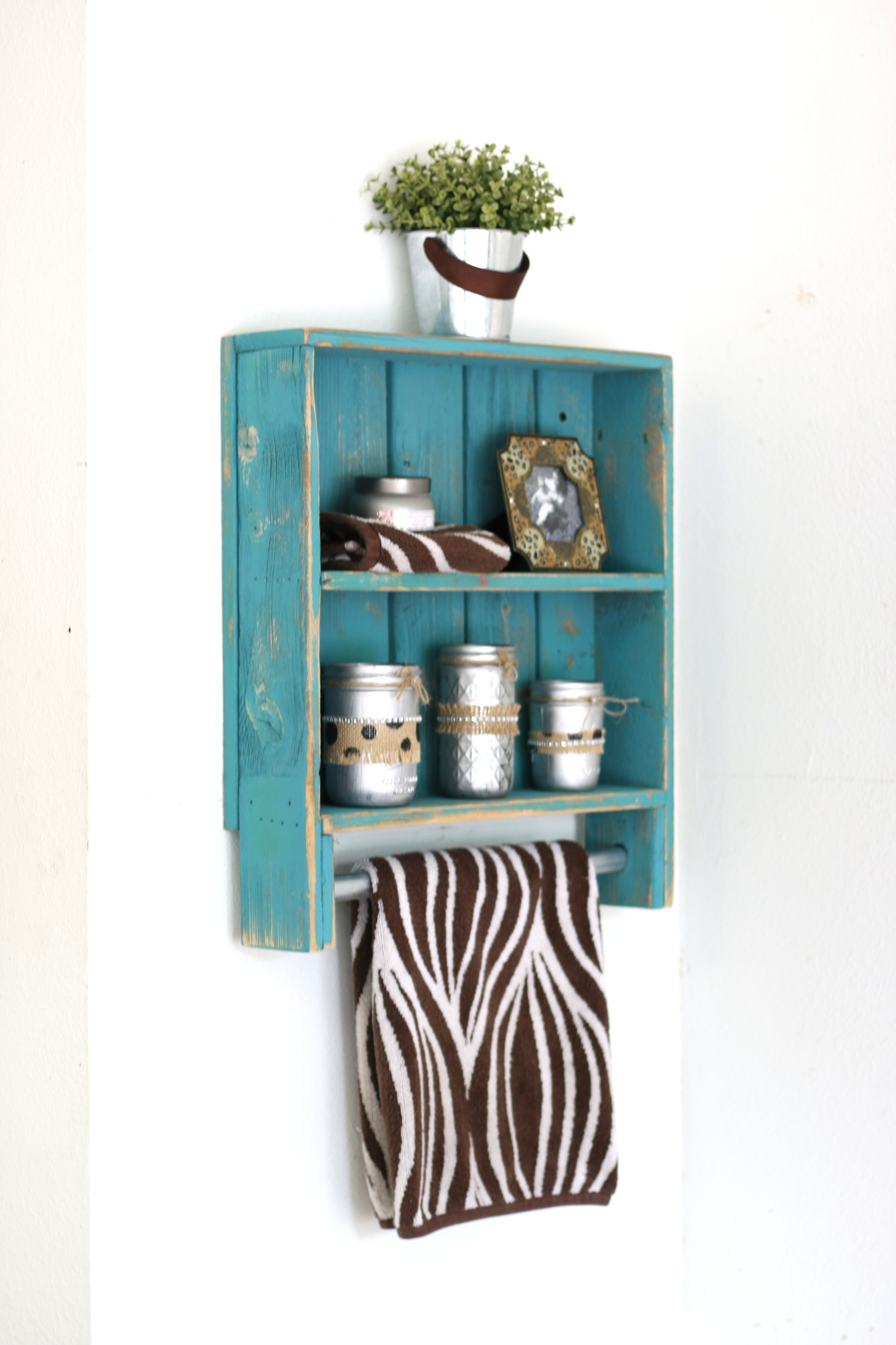 Rustic Double Towel Rack--Choose Your Color!